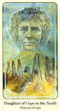 Page of Cauldrons Tarot Card - Haindl Tarot Deck
