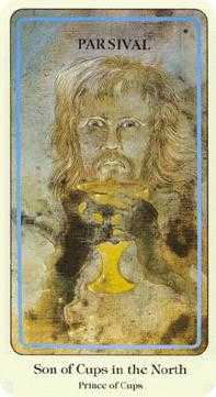 Cavalier of Cups Tarot Card - Haindl Tarot Deck