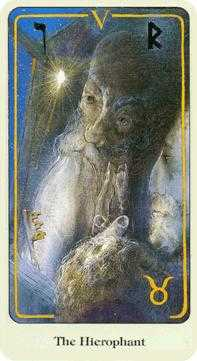 The High Priest Tarot Card - Haindl Tarot Deck