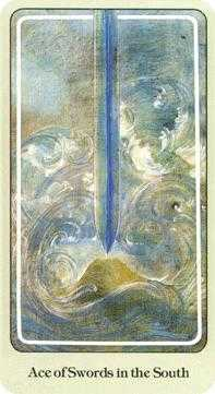 Ace of Wind Tarot Card - Haindl Tarot Deck