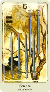Six of Wind Tarot Card - Haindl Tarot Deck