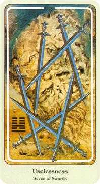 Seven of Swords Tarot Card - Haindl Tarot Deck