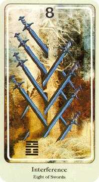 Eight of Wind Tarot Card - Haindl Tarot Deck