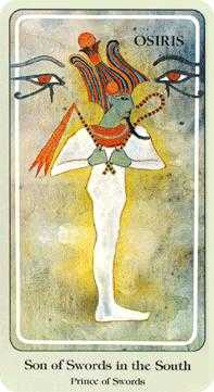 Prince of Swords Tarot Card - Haindl Tarot Deck