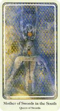 Queen of Bats Tarot Card - Haindl Tarot Deck