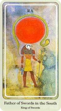 Roi of Swords Tarot Card - Haindl Tarot Deck