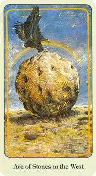 Ace of Stones Tarot Card - Haindl Tarot Deck