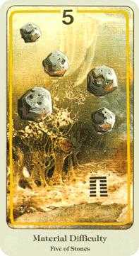 Five of Pumpkins Tarot Card - Haindl Tarot Deck