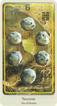 Six of Stones Tarot Card - Haindl Tarot Deck