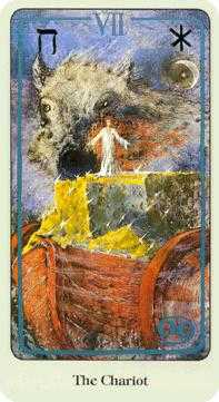 The Chariot Tarot Card - Haindl Tarot Deck