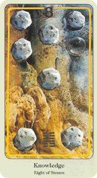 Eight of Coins Tarot Card - Haindl Tarot Deck