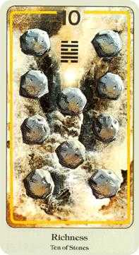Ten of Stones Tarot Card - Haindl Tarot Deck