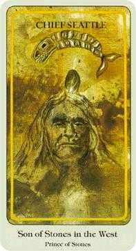 Son of Coins Tarot Card - Haindl Tarot Deck