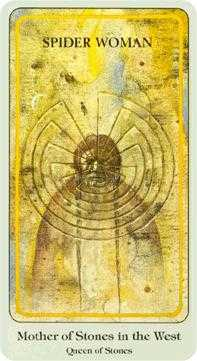 Queen of Discs Tarot Card - Haindl Tarot Deck