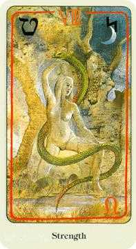 Strength Tarot Card - Haindl Tarot Deck