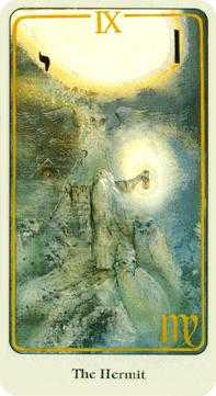 The Hermit Tarot Card - Haindl Tarot Deck