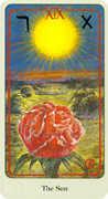 The Sun Tarot card in Haindl Tarot deck