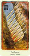 Eight of Wands Tarot card in Haindl Tarot deck