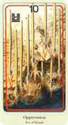 Ten of Wands Tarot card in Haindl Tarot deck
