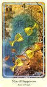 Four of Cups Tarot card in Haindl Tarot deck