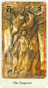 The Emperor Tarot card in Haindl Tarot deck