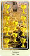 Ten of Cups Tarot card in Haindl Tarot deck