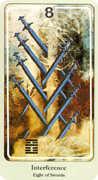 Eight of Swords Tarot card in Haindl deck