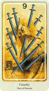 Nine of Swords Tarot card in Haindl Tarot deck