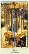 Ten of Swords Tarot card in Haindl Tarot deck