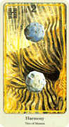 Two of Coins Tarot card in Haindl Tarot deck