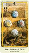 Four of Coins Tarot card in Haindl deck