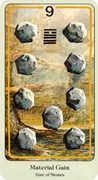 Nine of Coins Tarot card in Haindl deck