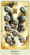 Ten of Coins Tarot card in Haindl deck