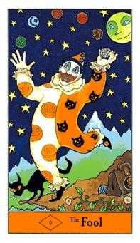 The Fool Tarot Card - Halloween Tarot Deck