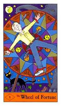 Wheel of Fortune Tarot Card - Halloween Tarot Deck