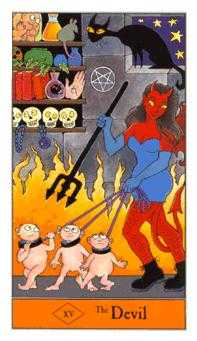 The Devil Tarot Card - Halloween Tarot Deck