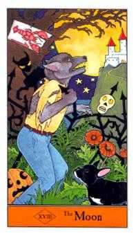 The Moon Tarot Card - Halloween Tarot Deck