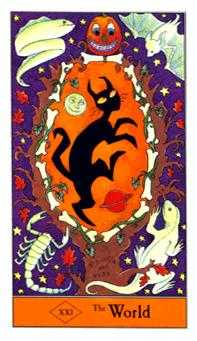 The World Tarot Card - Halloween Tarot Deck