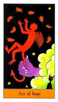 Ace of Imps Tarot Card - Halloween Tarot Deck