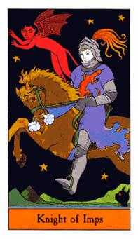 Knight of Rods Tarot Card - Halloween Tarot Deck