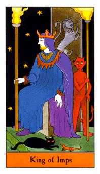 King of Batons Tarot Card - Halloween Tarot Deck