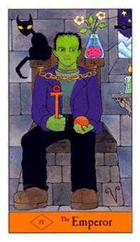 The Emperor Tarot Card - Halloween Tarot Deck