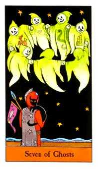 Seven of Cups Tarot Card - Halloween Tarot Deck