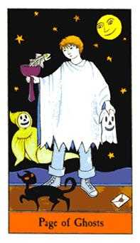 Page of Ghosts Tarot Card - Halloween Tarot Deck