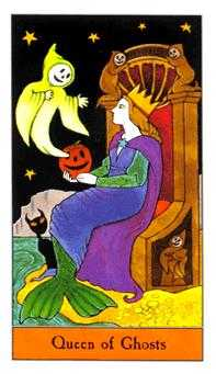 Queen of Ghosts Tarot Card - Halloween Tarot Deck