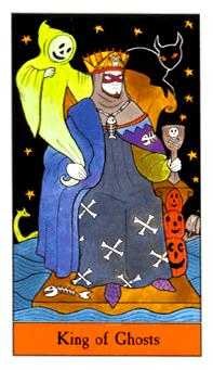 King of Cauldrons Tarot Card - Halloween Tarot Deck