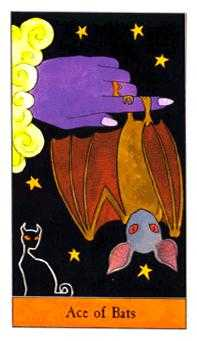 Ace of Bats Tarot Card - Halloween Tarot Deck