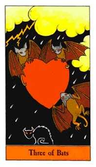 Three of Wind Tarot Card - Halloween Tarot Deck