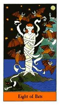 Eight of Wind Tarot Card - Halloween Tarot Deck