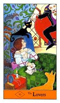 The Lovers Tarot Card - Halloween Tarot Deck